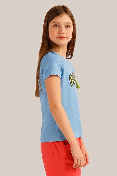 Футболка для девочки, Модель KS19-71017, Фото №3