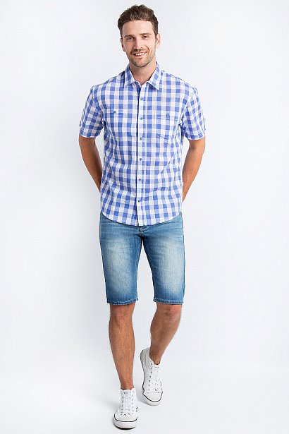 Рубашка мужская, Модель S18-24014, Фото №3