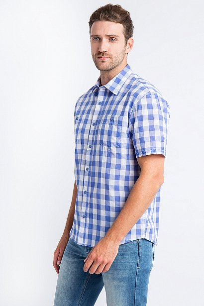 Рубашка мужская, Модель S18-24014, Фото №4