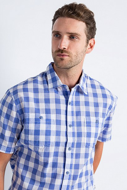Рубашка мужская, Модель S18-24014, Фото №6