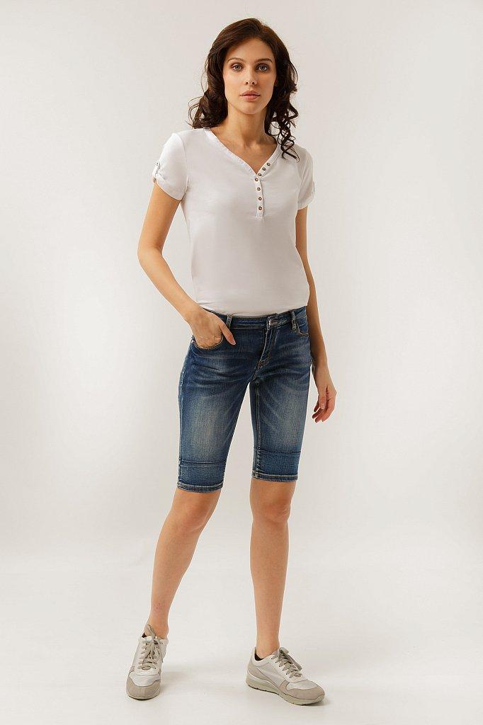 Шорты джинсовые женские, Модель S19-15025, Фото №2