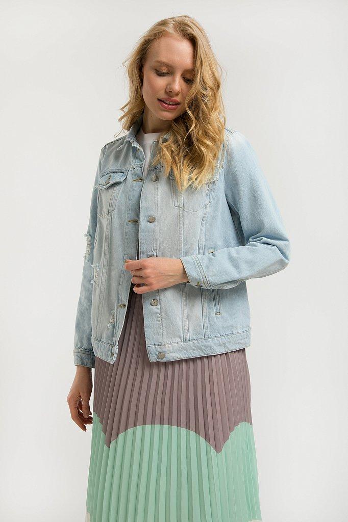 Куртка джинсовая женская, Модель S20-15004, Фото №1