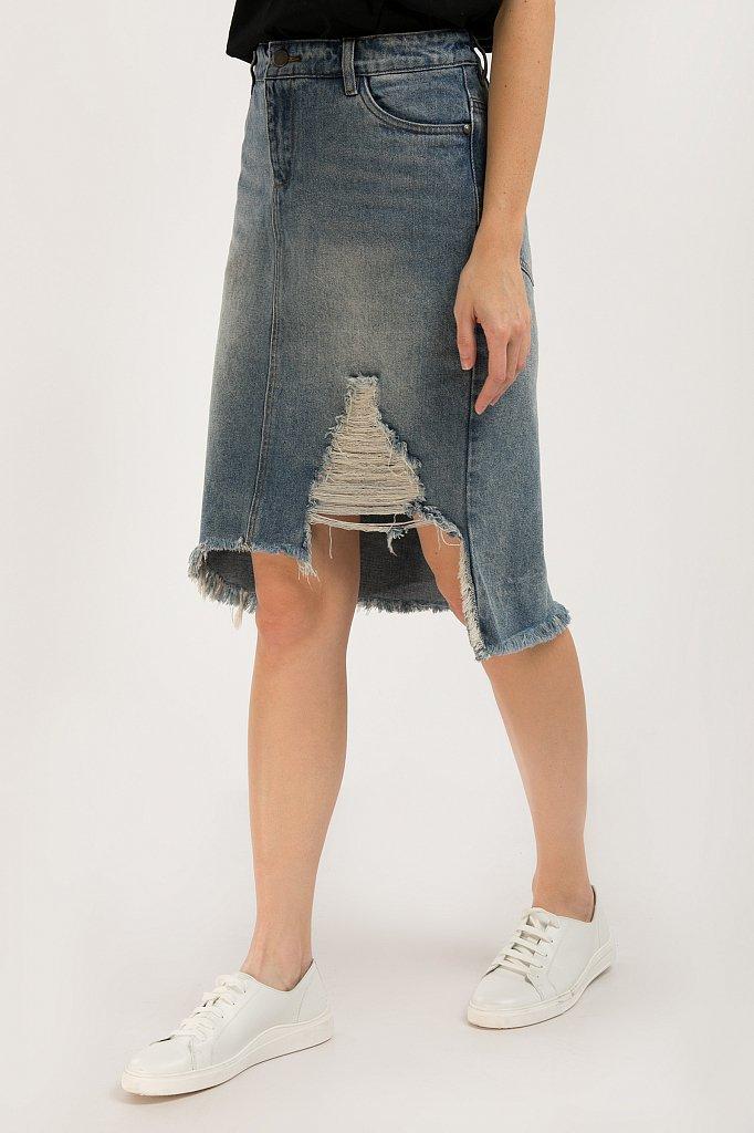 Юбка джинсовая женская, Модель S20-15012, Фото №2