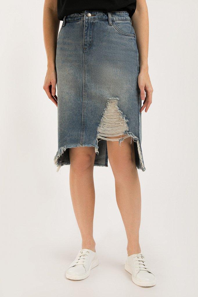 Юбка джинсовая женская, Модель S20-15012, Фото №4
