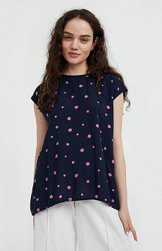 Блуза без рукавов с принтом S21-110101