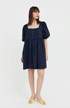 Платье-мини из натуральной ткани рами Finn-Flare