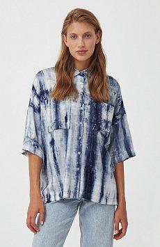 Рубашка с рисунком тай дай S21-11021
