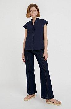 Хлопковая блузка с коротким рукавом S21-11083