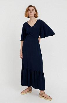 Платье макси из вискозы S21-14009