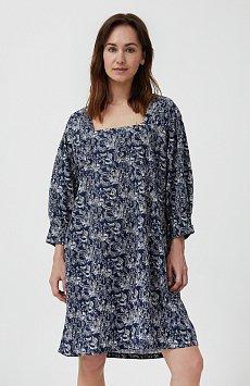 Хлопковое платье с поясом S21-14044