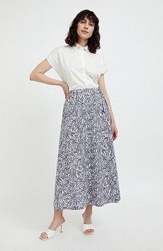 Принтованная юбка с запахом S21-14083