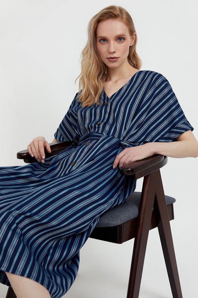 Платье-рубашка с геометричным принтом, Модель S21-11002, Фото №1