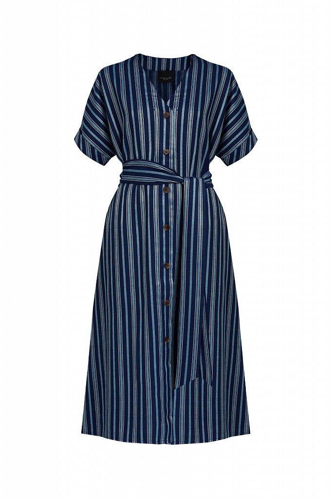Платье-рубашка с геометричным принтом, Модель S21-11002, Фото №8