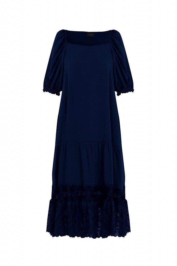 Платье свободного кроя с кружевом, Модель S21-110108, Фото №7