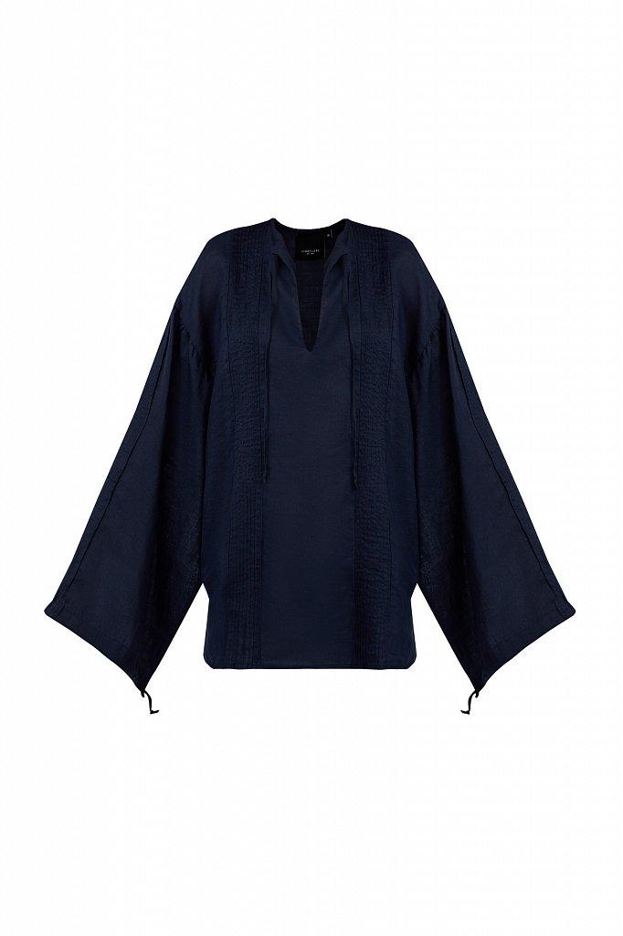Объемная блузка из рами, Модель S21-110114, Фото №7