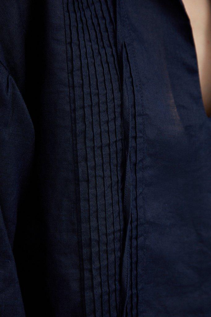 Объемная блузка из рами, Модель S21-110114, Фото №5