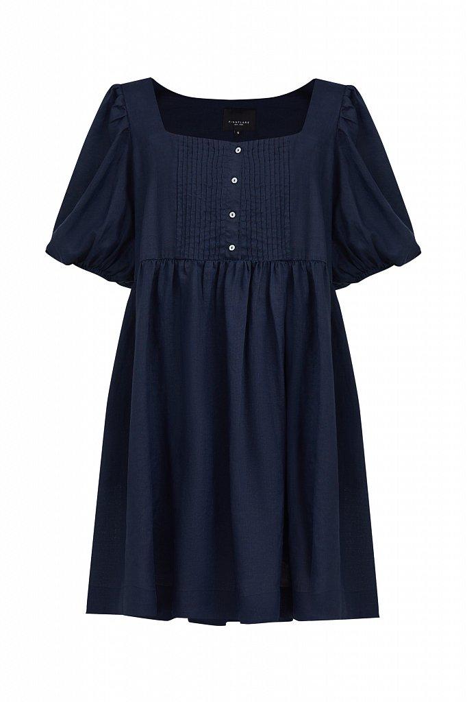 Платье-мини из натуральной ткани рами, Модель S21-110116, Фото №7