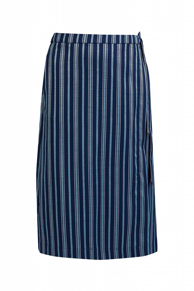 Полосатая юбка миди с запахом, Модель S21-110117, Фото №6