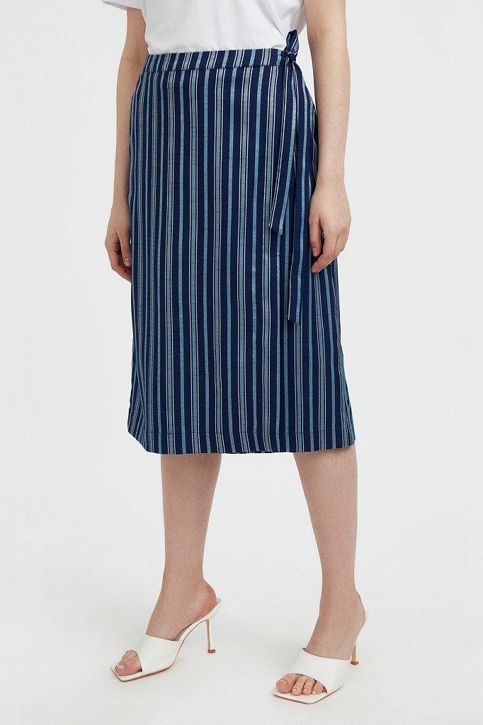 Полосатая юбка миди с запахом, Модель S21-110117, Фото №2