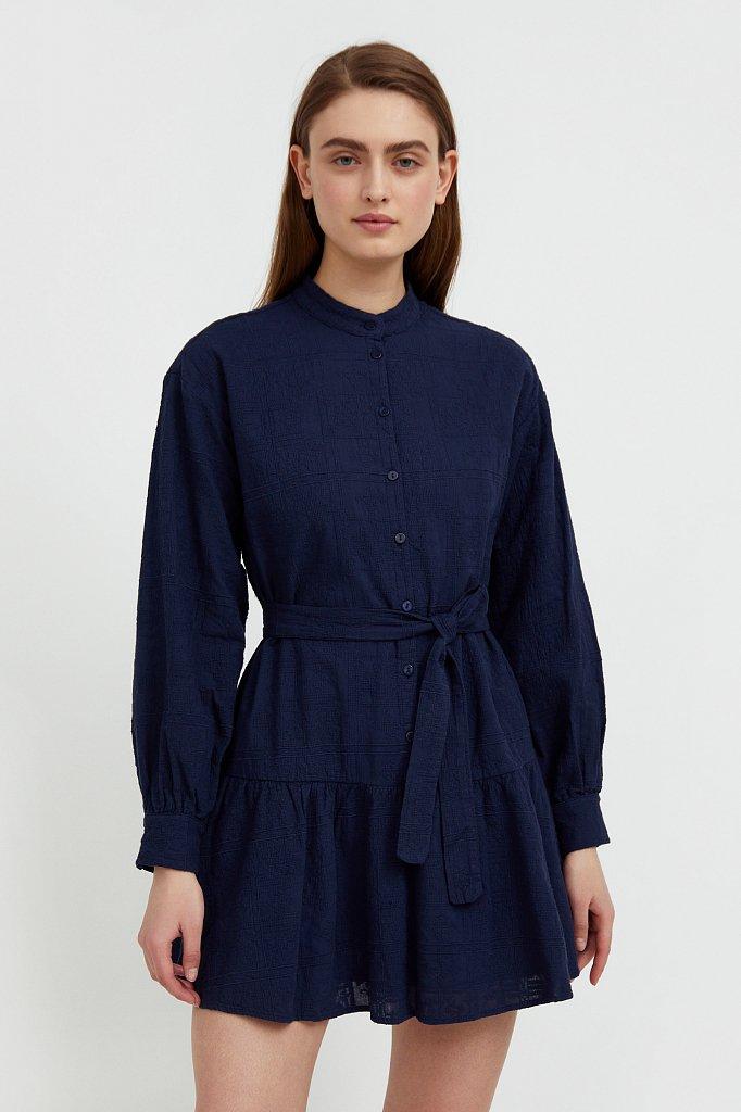 Платье-мини из натурального хлопка, Модель S21-11018, Фото №1