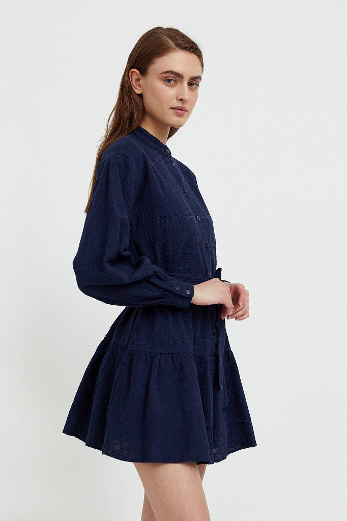 Платье-мини из натурального хлопка, Модель S21-11018, Фото №3