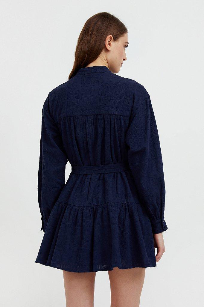 Платье-мини из натурального хлопка, Модель S21-11018, Фото №4
