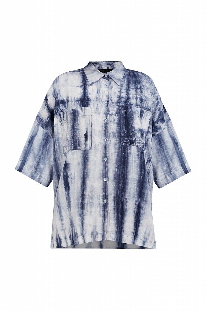 Рубашка с рисунком тай дай, Модель S21-11021, Фото №7