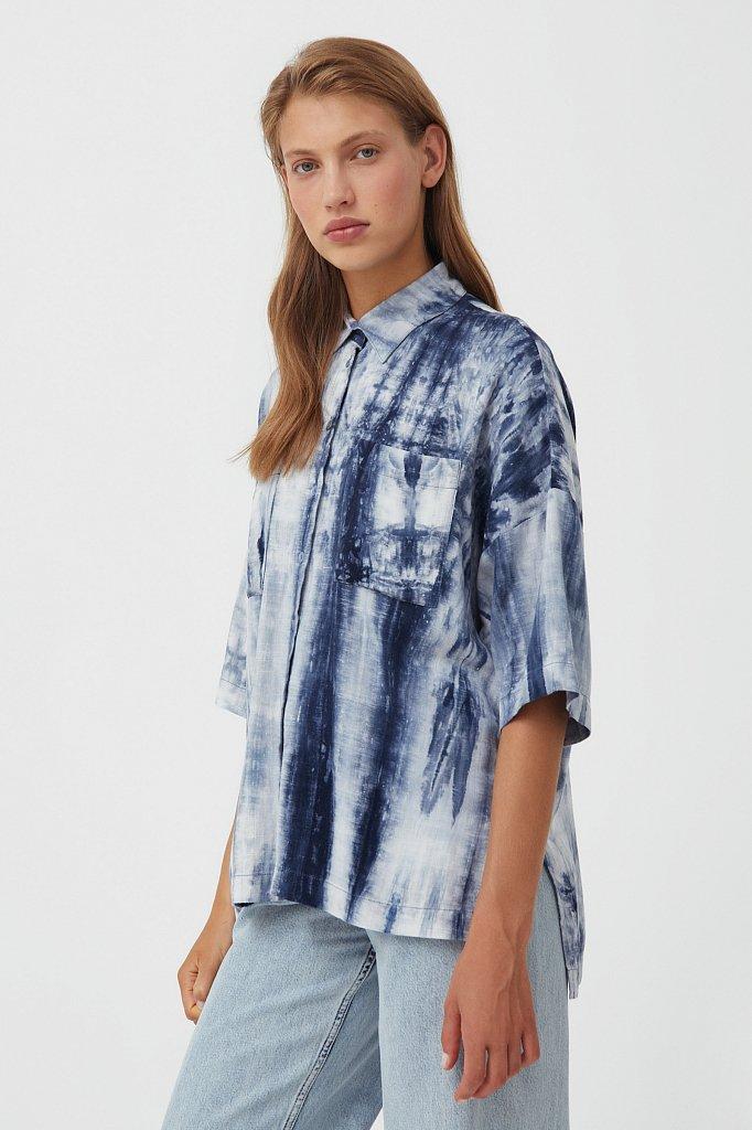 Рубашка с рисунком тай дай, Модель S21-11021, Фото №3