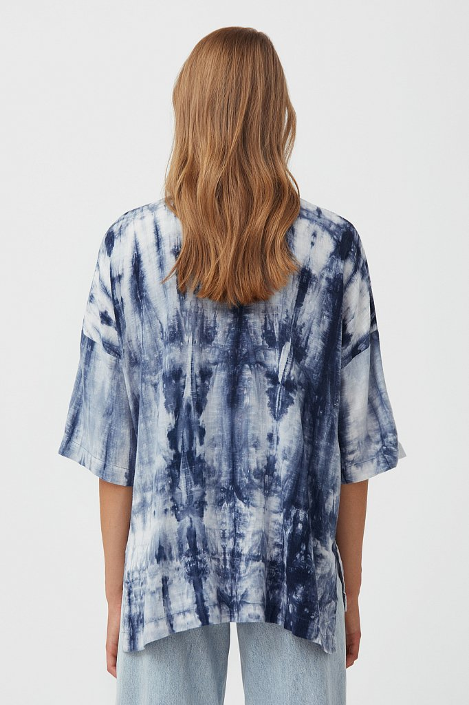 Рубашка с рисунком тай дай, Модель S21-11021, Фото №4