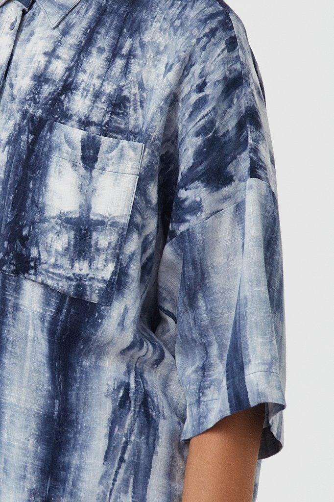 Рубашка с рисунком тай дай, Модель S21-11021, Фото №5