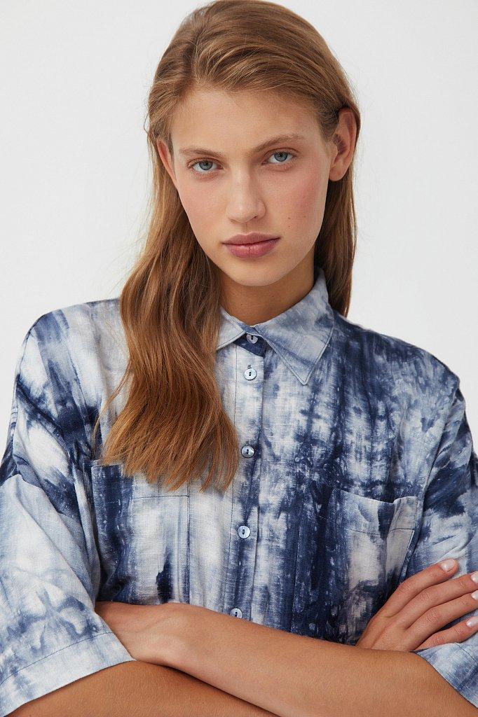 Рубашка с рисунком тай дай, Модель S21-11021, Фото №6