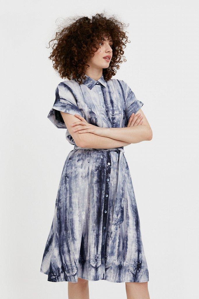 Платье из смесовой ткани, Модель S21-11023, Фото №3