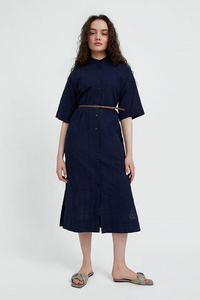 Хлопковое платье с набивным рисунком, Модель S21-11028, Фото №1