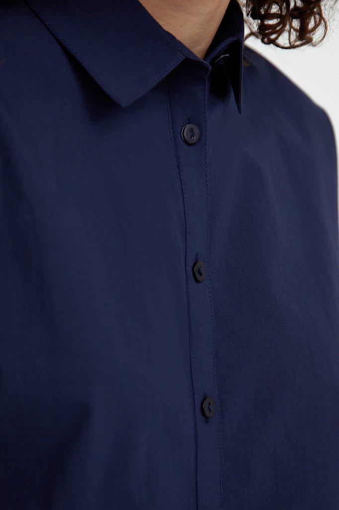 Свободная хлопковая рубашка, Модель S21-11029, Фото №5