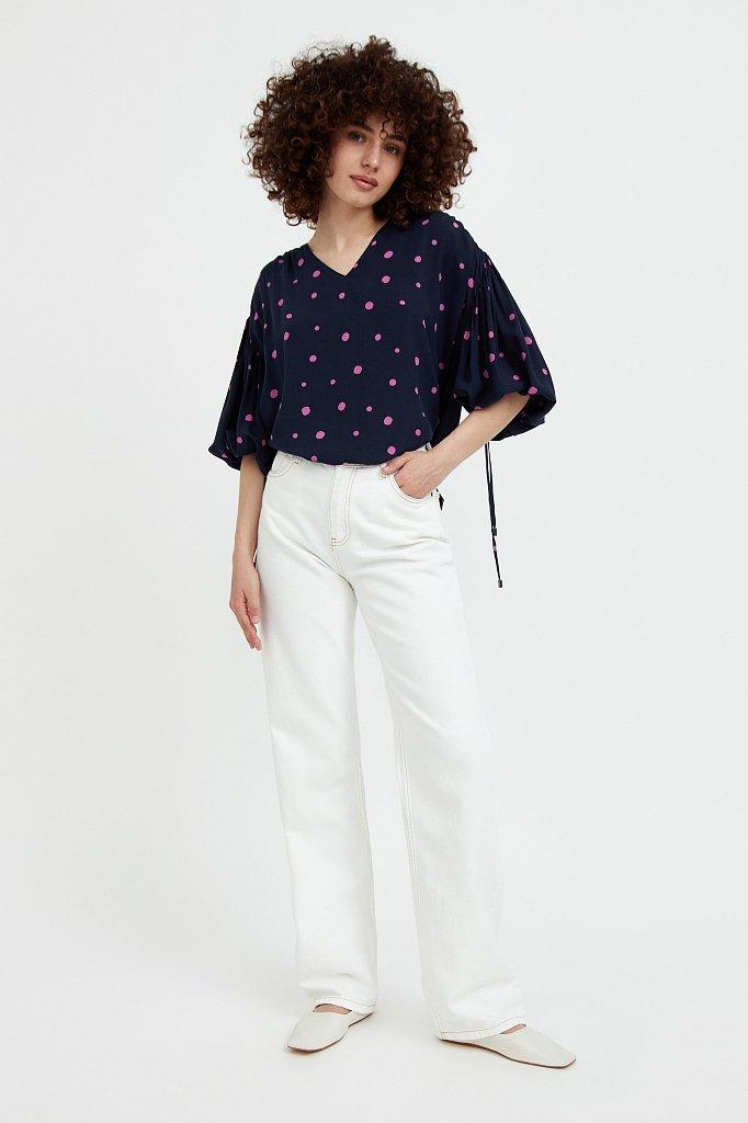 Свободная блуза в горох, Модель S21-11047, Фото №2