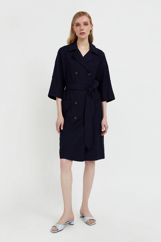 Платье-жакет с поясом, Модель S21-11063, Фото №1
