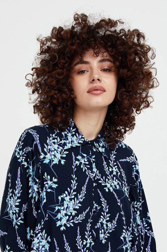Платье-рубашка с растительным принтом, Модель S21-11066, Фото №6