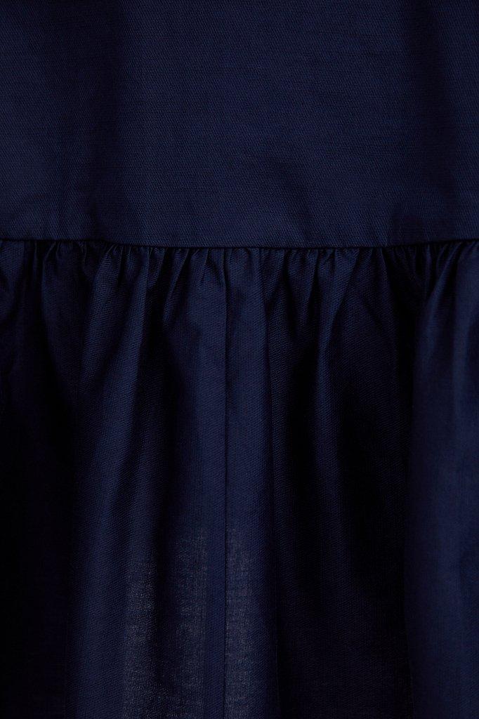 Хлопковое платье с объемными рукавами, Модель S21-11080, Фото №5