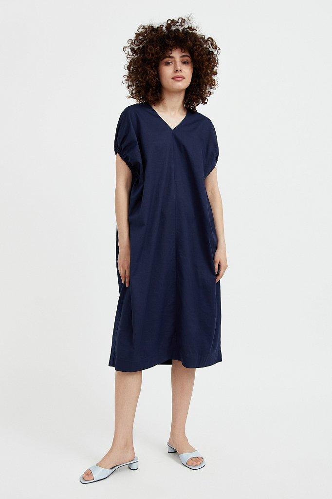 Платье прямого кроя из хлопка, Модель S21-11081, Фото №1