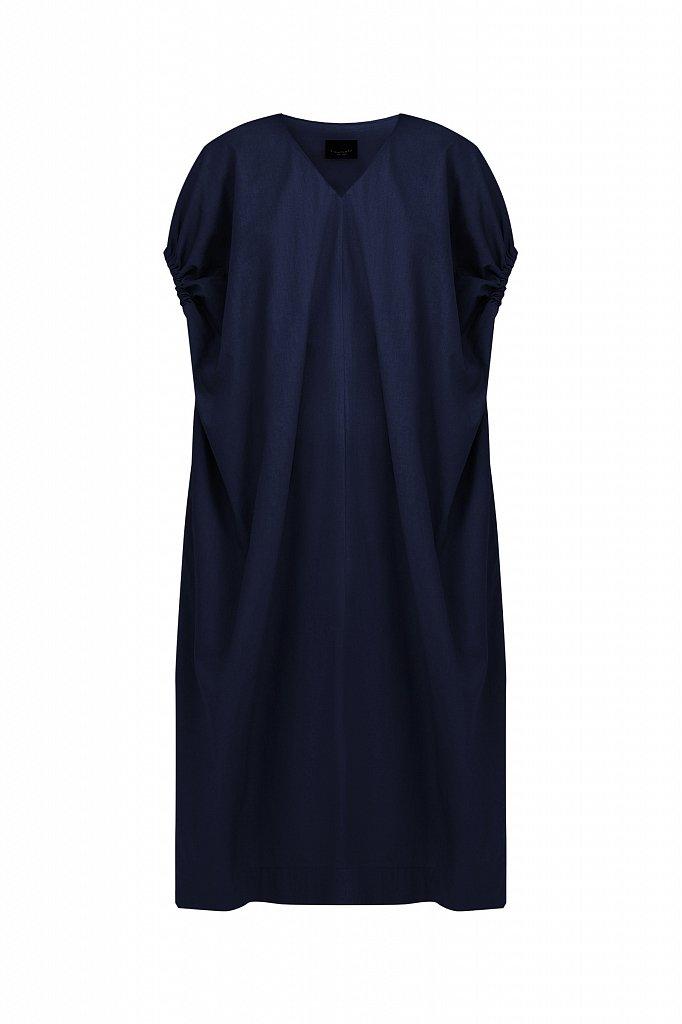 Платье прямого кроя из хлопка, Модель S21-11081, Фото №7