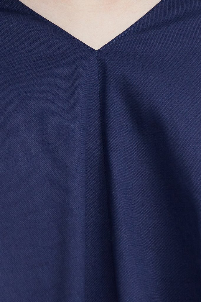 Платье прямого кроя из хлопка, Модель S21-11081, Фото №5