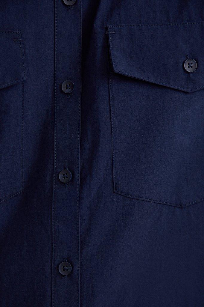 Хлопковая рубашка с короткими рукавами, Модель S21-11082, Фото №5