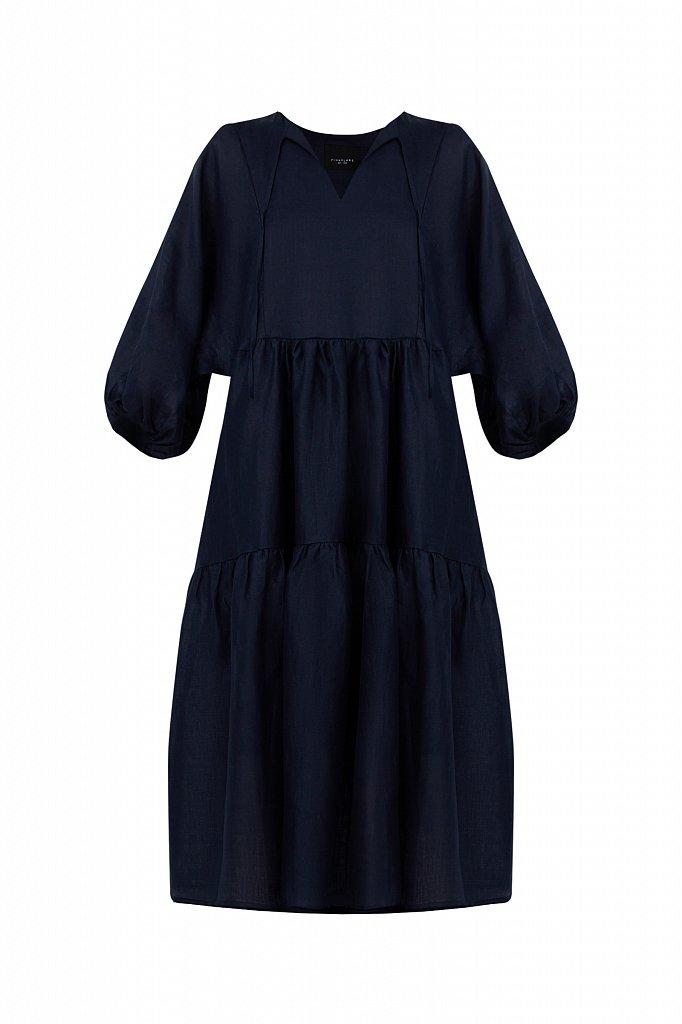 Платье миди с рукавами-буф, Модель S21-11095, Фото №8