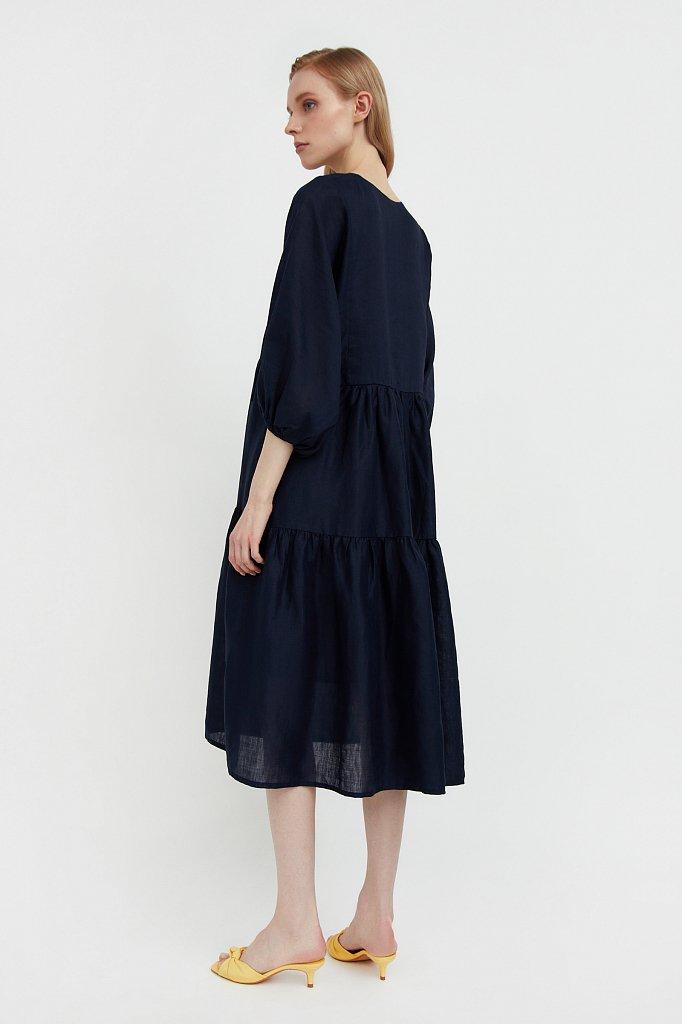 Свободное платье из натуральной ткани рами, Модель S21-11095, Фото №5
