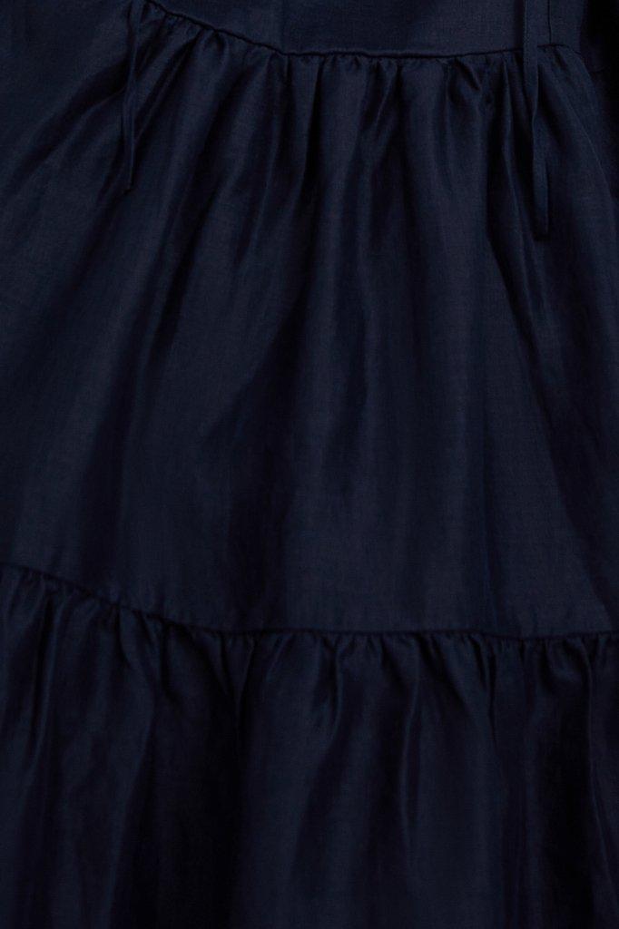 Свободное платье из натуральной ткани рами, Модель S21-11095, Фото №6