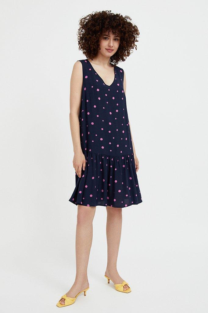 Короткое платье в горох, Модель S21-11096, Фото №3