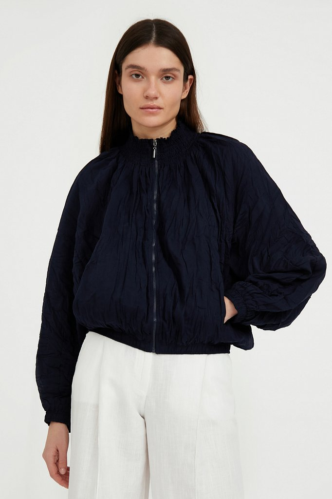 Хлопковая куртка на молнии, Модель S21-11097, Фото №2