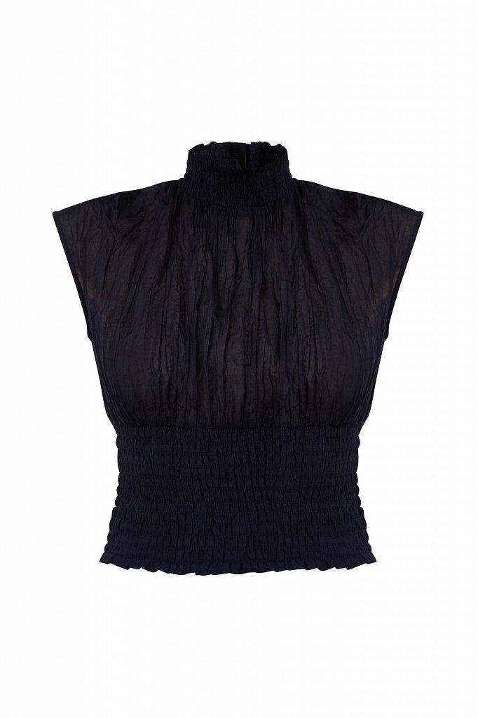 Блуза из жатого хлопка, Модель S21-11099, Фото №7