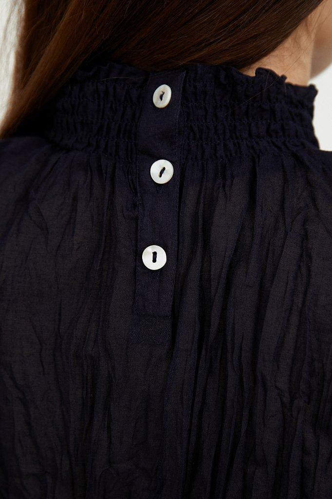Блуза из жатого хлопка, Модель S21-11099, Фото №5