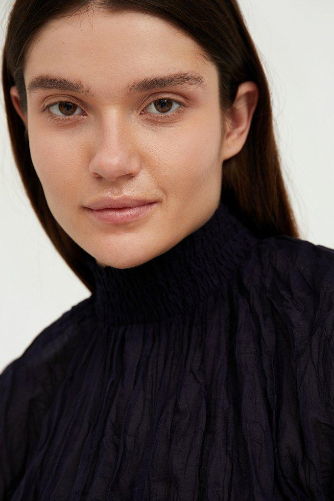 Блуза из жатого хлопка, Модель S21-11099, Фото №6